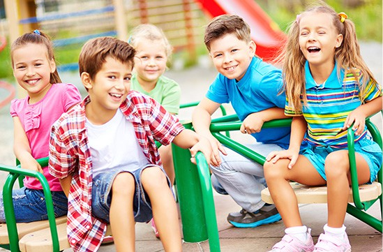 Happy Children playing around
