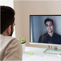 Video chat with a friend